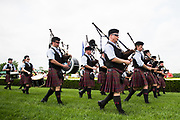 April 29, 2017, 22nd annual Queen's Cup Steeplechase. Bag pipes