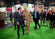 Queen Maxima visited the stand Wijzer in geldzaken during the National Education exhibition in the J