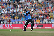 David Wiese of Sussex batting during the Vitality T20 Finals Day semi final 2018 match between Sussex Sharks and Somerset County Cricket Club at Edgbaston, Birmingham, United Kingdom on 15 September 2018.