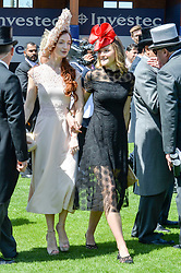 Olivia Grant and Amber Atherton at The Investec Derby, Epsom, Surrey England. 3 June 2017.<br /> Photo by Dominic O'Neill/SilverHub 0203 174 1069 sales@silverhubmedia.com