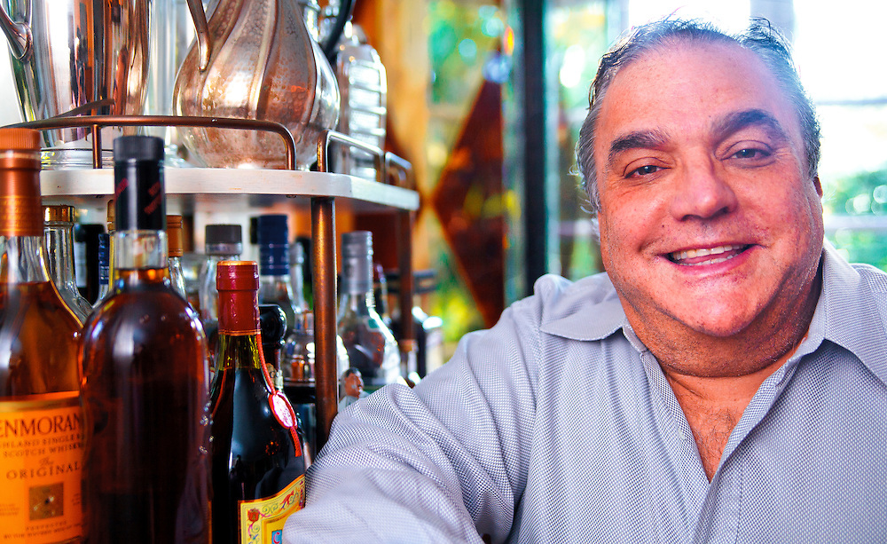 Lee Brian Schrager, organizer of the South Beach Wine and Food Festivals, photographed in his Miami home