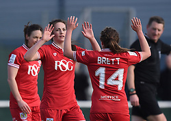 Chloe Arthur of Bristol City Women celebrates her goal - Mandatory by-line: Paul Knight/JMP - Mobile: 07966 386802 - 14/02/2016 -  FOOTBALL - Stoke Gifford Stadium - Bristol, England -  Bristol Academy Women v QPR Ladies - FA Cup third round