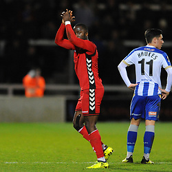 TELFORD COPYRIGHT MIKE SHERIDAN 12/1/2019 - Dan Udoh of AFC Telford during the Vanarama Conference North fixture between AFC Telford United and Hartlepool United at the Super Six Stadium.