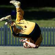 Jessica Cameron just fails to take a catch during the match between Australia and Pakistan in the Super 6 stage of the ICC Women's World Cup Cricket tournament at Bankstown Oval, Sydney, Australia on March 16 2009, Australia won the match by 107 runs. Photo Tim Clayton