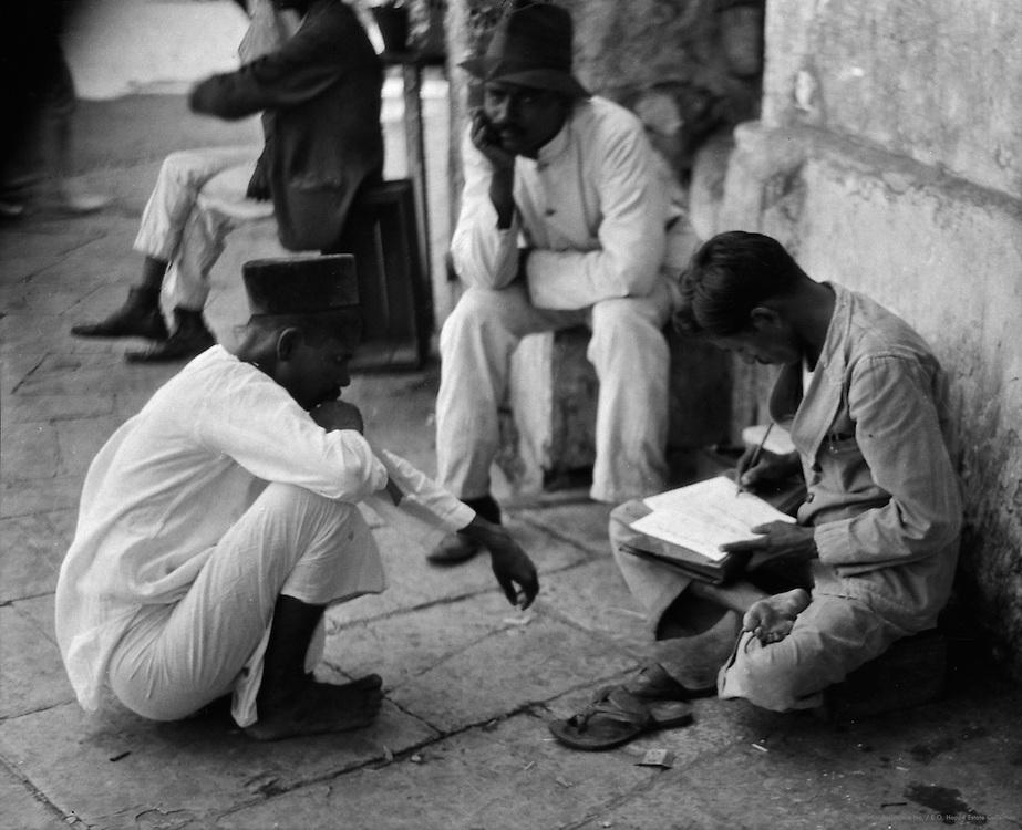 Scribes, Bombay, India, 1929