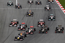 FORMEL 1: GP von Malaysia, Sepang, 10.04.2011<br />Illustration, Start, Sebastian VETTEL (GER, Red Bull Racing, vorne)<br />© pixathlon