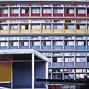 Paris, France, 2002: Main facade, Citè de Refuge (1933), at Citè Universitaire in 12 Rue Cantagrel, Paris, France - Le Corbusier arch - . Photographs by Alejandro Sala