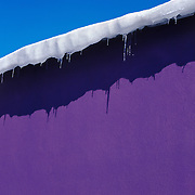 A winter abstract - purple wall overlaying at blue sky<br /> <br /> + ART PRINTS +<br /> To order prints or cards of this image, visit:<br /> http://greg-stechishin.artistwebsites.com/featured/peeling-purple-greg-stechishin.html