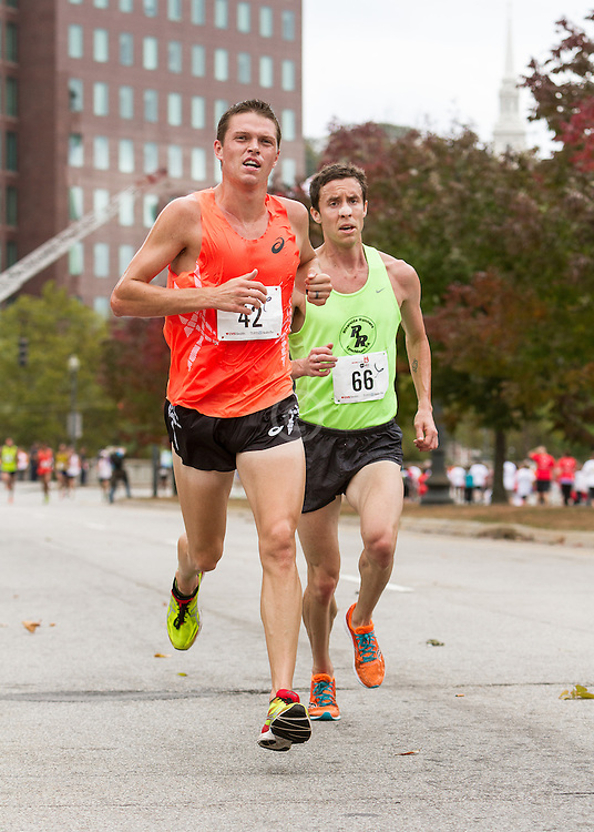 CVS Health Downtown 5k, USA 5k road championship, Mile Batty (42) Josh McDougal (66)