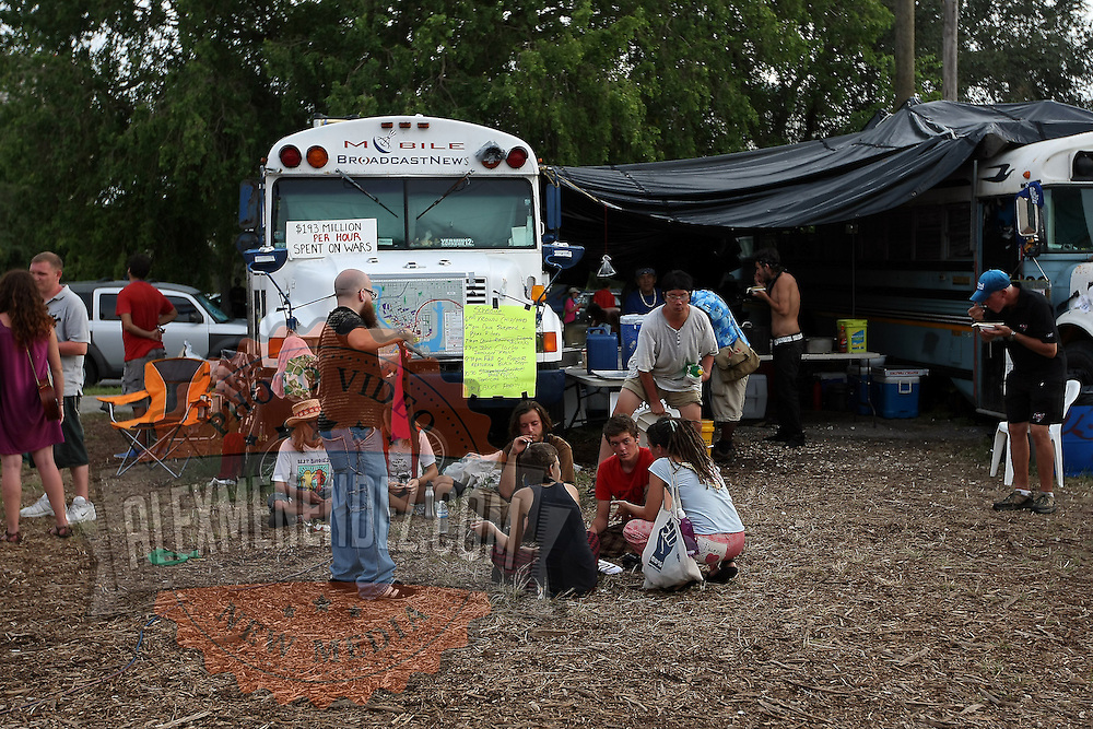 """Tents and RV's are seen at """"Camp Romney"""", or Romneyville, during the Republican National Convention in Tampa, Fla. on Wednesday, August 29, 2012. (AP Photo/Alex Menendez)"""