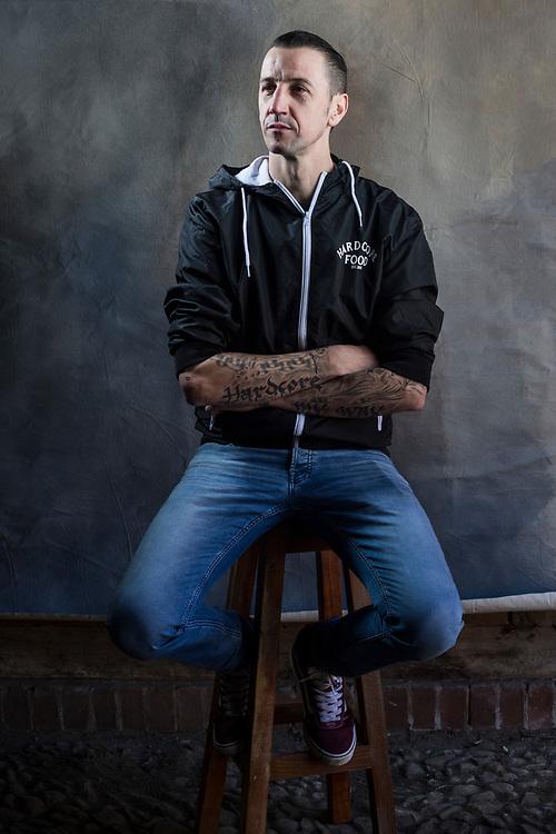 Porträts Torsten Pistol aka Pistole mit seinem Unternehmen Hardcore Food