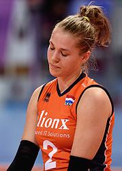 09-01-2016 TUR: European Olympic Qualification Tournament Rusland - Nederland, Ankara<br /> De Nederlandse volleybalsters hebben de finale van het olympisch kwalificatietoernooi tegen Rusland verloren. Oranje boog met 3-1 voor de Europees kampioen (25-21, 22-25, 25-19, 25-20) / Femke Stoltenborg #2