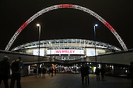 a General view of outside Wembley Stadium ahead of tonight's match. England v Spain, Football international friendly at Wembley Stadium in London on Tuesday 15th November 2016.<br /> pic by John Patrick Fletcher, Andrew Orchard sports photography.