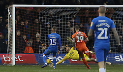 James Collins of Luton Town scores his third goal of the game - Mandatory by-line: Joe Dent/JMP - 19/01/2019 - FOOTBALL - Kenilworth Road - Luton, England - Luton Town v Peterborough United - Sky Bet League One