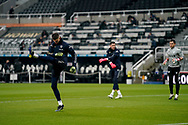 Leeds United goalkeeper Illan Meslier (1) warming up during the Premier League match between Newcastle United and Leeds United at St. James's Park, Newcastle, England on 26 January 2021.