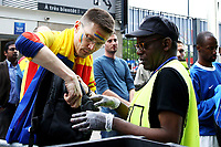 Perquisizione Tifosi all'ingresso. Security check at the entrance <br /> Paris 10-06-2016 Stade de France Footballl Euro2016 France - Romania  / Francia - Romania Group Stage Group A. Foto Matteo Ciambelli / Insidefoto