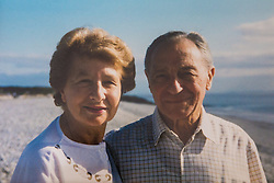 Trevor Salomon's parents Irene and Jerry photographed in South Wales in 2000, when his father had Alzheimers. Pinner, London, March 12 2018.