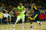 WACO, TX - MARCH 5: Al Freeman #25 of the Baylor Bears brings the ball up court against the West Virginia Mountaineers on March 5, 2016 at the Ferrell Center in Waco, Texas.  (Photo by Cooper Neill/Getty Images) *** Local Caption *** Al Freeman