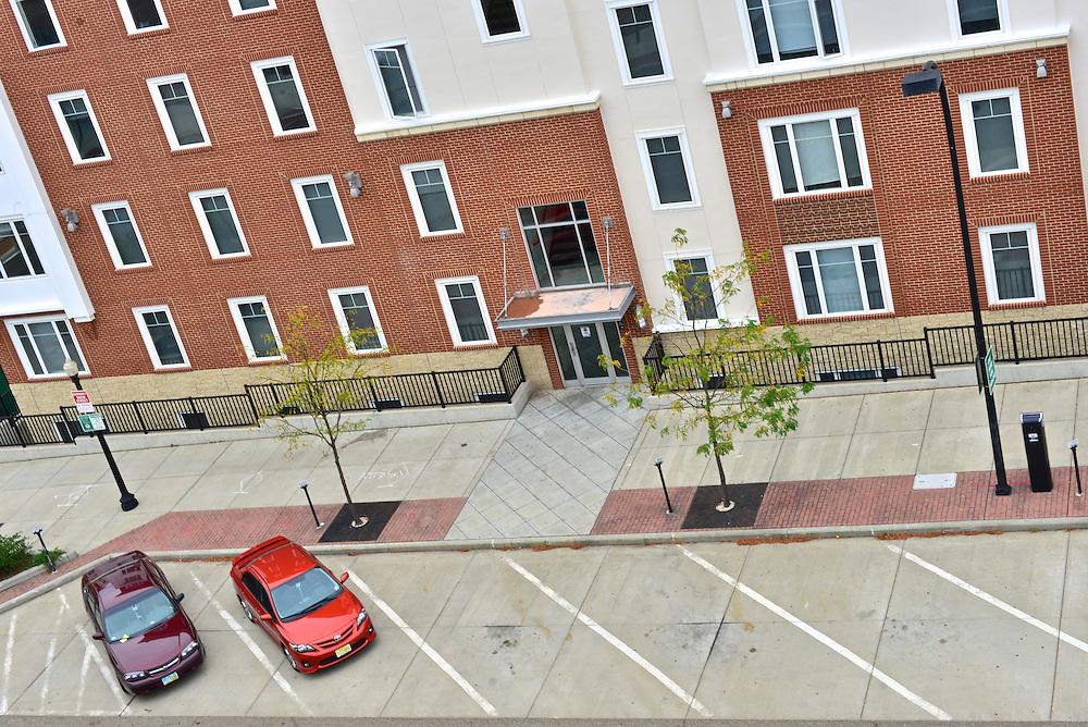 Overhead view of 22 Exchange Apartments.