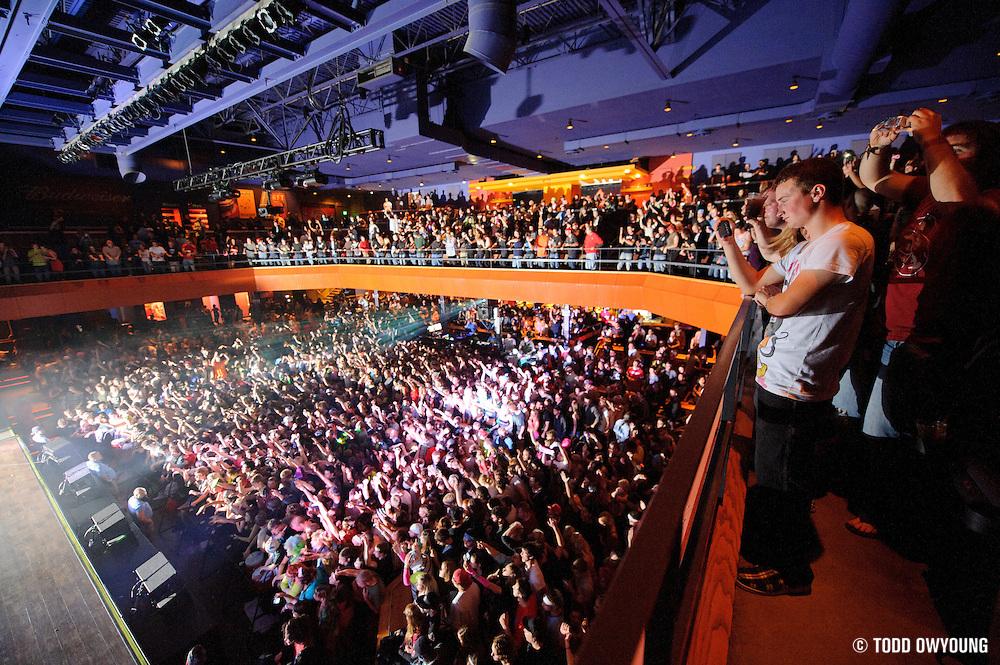 The crowd during Skrillex's headling performance on the Mothership Tour Thursda, November 3.