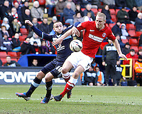 Burnley's Martin Paterson battles with Charlton Athletics Michael Morrison..Football - npower Football League Championship - Charlton Athletic v Burnley - Saturday 02nd March 2013 - The Valley - London..¨© CameraSport - 43 Linden Ave. Countesthorpe. Leicester. England. LE8 5PG - Tel: +44 (0) 116 277 4147 - admin@camerasport.com - www.camerasport.com