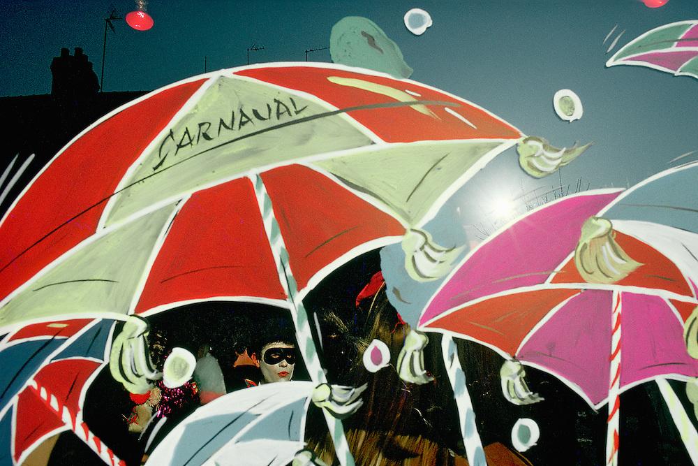 Cortège de la bande de Malo-Les-Bains pendant le Carnaval de Dunkerque, Nord-Pas-de-Calais, France.<br /> Procession of the Malo-Les-Bains band during the Carnival of Dunkirk, Nord-Pas-de-Calais, France.