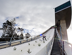03.01.2013, Bergisel Schanze, Innsbruck, AUT, FIS Ski Sprung Weltcup, 61. Vierschanzentournee, Training, im Bild Manuel Fettner (AUT) // Manuel Fettner of Austria during practice Jump of 61th Four Hills Tournament of FIS Ski Jumping World Cup at the Bergisel Schanze, Innsbruck, Austria on 2013/01/03. EXPA Pictures © 2012, PhotoCredit: EXPA/ Juergen Feichter