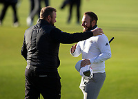 Golf - 2021 Alfred Dunhill Links Championship - Day Four - The Old Course at St Andrew's - Day Four -  Sunday 3rd October 2021<br /> <br /> Tyrell Hatton and Shane Lowry on the 18th<br /> <br /> Credit: COLORSPORT/Bruce White