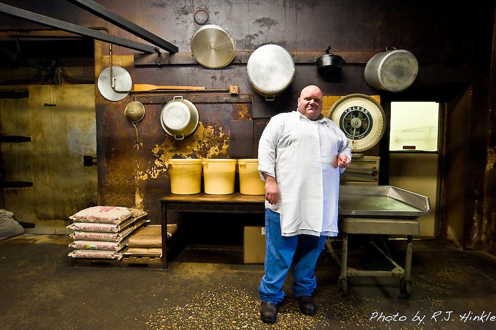 Pit master John Fullilove of Smitty's Market in Lockhart Texas