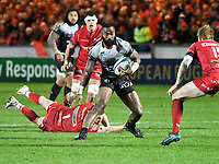 Rugby Union - 2017 / 2018 European Rugby Champions Cup: Scarlets vs. RC Toulonnaise<br /> <br /> Semi Radradra, of Toulon attacks, at Parc y Scarlets, Llanelli.<br /> <br /> COLORSPORT/WINSTON BYNORTH