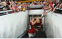 22 June 2013; Brian O'Driscoll, British & Irish Lions, heads for the dressing room following victory. British & Irish Lions Tour 2013, 1st Test, Australia v British & Irish Lions, Suncorp Stadium, Brisbane, Queensland, Australia. Picture credit: Stephen McCarthy / SPORTSFILE