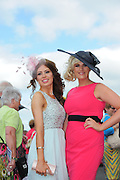 29/07/2014  Orla O Connor Cullen Cork and Maria Ryan from Killoscully at the Tuesday evening meeting of the Galway Summer racing Festival. Photo: Andrew Downes