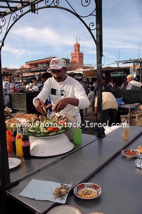 Morocco, Marrakech, Djemaa el Fna square