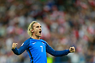 France's forward Antoine Griezmann celebrates after scoring during the FIFA World Cup Russia 2018, Qualifying Group A football match between France and Netherlands on August 31, 2017 at the Stade de France in Saint-Denis, north of Paris, France - Photo Benjamin Cremel / ProSportsImages / DPPI