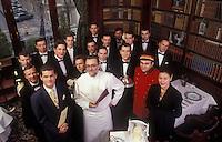 Alain Ducasse and his team, Paris