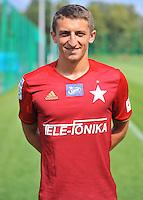 2016.08.03 Myslenice <br /> Pilka nozna Lotto Ekstraklasa sezon 2016/2017<br /> Sesja zdjeciowa Wisla Krakow <br /> N/z Krzysztof Drzazga<br /> Foto Rafal Rusek / PressFocus<br /> <br /> 2016.08.03 Myslenice <br /> Football Polish Lotto Ekstraklasa season 2016/2017<br /> Sesja zdjeciowa Wisla Krakow <br /> Krzysztof Drzazga<br /> Credit: Rafal Rusek / PressFocus