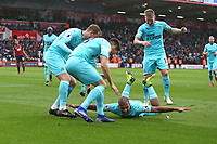 Football - 2018 / 2019 Premier League - AFC Bournemouth vs. Newcastle United<br /> <br /> Salomon Rondon of Newcastle United \celebrates his goal with team mates at the Vitality Stadium (Dean Court) Bournemouth <br /> <br /> COLORSPORT/SHAUN BOGGUST