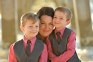 Mother with sons on location, candid, lifestyle, free form, holidays, posed,