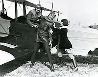1920 Jack Dempsey at Chaplin Airdrome at Wilshire & Fairfax Blvds.