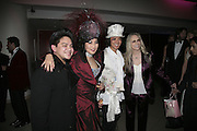 Prince Azim, Patti and Andy Wong and Faye Dunnaway, Andy and Patti Wong's Chinese New Year of the Pig party. Madame Tussauds. ( Dress Burlesque, Debauched or Hollywood Black Tie. ) London. 27 January 2007.  -DO NOT ARCHIVE-© Copyright Photograph by Dafydd Jones. 248 Clapham Rd. London SW9 0PZ. Tel 0207 820 0771. www.dafjones.com.
