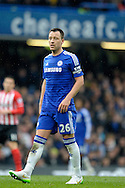 John Terry, the Chelsea captain looking on. Barclays Premier league match, Chelsea v Southampton at Stamford Bridge in London on Sunday 15th March 2015.<br /> pic by John Patrick Fletcher, Andrew Orchard sports photography.