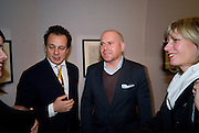 DETMAR BLOW; MARK SPIEGLER; ANNETTE SCHONHOLZER. Henry Moore Exhibition. Hauser and Wirth. 15 Old Bond St. and afterwards dinner at the Burlington arcade. 14 October 2008 *** Local Caption *** -DO NOT ARCHIVE -Copyright Photograph by Dafydd Jones. 248 Clapham Rd. London SW9 0PZ. Tel 0207 820 0771. www.dafjones.com