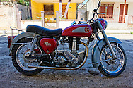 Motorcycle in Cardenas, Matanzas, Cuba.