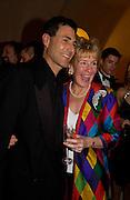 Uri Geller and Christine Hamilton, Opening of Magyar Magic, Hungary in Focus, Somerset House, 3 November 2003. © Copyright Photograph by Dafydd Jones 66 Stockwell Park Rd. London SW9 0DA Tel 020 7733 0108 www.dafjones.com