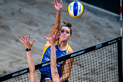 Mexime van Driel during the second day of the beach volleyball event King of the Court at Jaarbeursplein on September 10, 2020 in Utrecht.