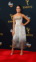 September 18, 2016 - Los Angeles, CA, USA - Olivia Culpo arrives at the 68th Annual Emmy Awards at the Microsoft Theater in Los Angeles, California on Sunday, September 18, 2016. (Credit Image: © Michael Owen Baker/Los Angeles Daily News via ZUMA Wire)