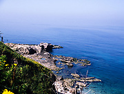 Coastline view to Mediterranean Sea from Byblos, Lebanon 1998