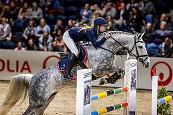 OSTERMANN Henrike (GER), Clintess<br /> Finale HGW-Bundesnachwuchschampionat der Springreiter <br /> gefördert durch die Horst-Gebers-Stiftung <br /> In Memoriam Debby Winkler<br /> Stilspringen Kl. M*<br /> Nat. style jumping competition Kl. M*<br /> Braunschweig - Classico 2020<br /> 08. März 2020<br /> © www.sportfotos-lafrentz.de/Stefan Lafrentz