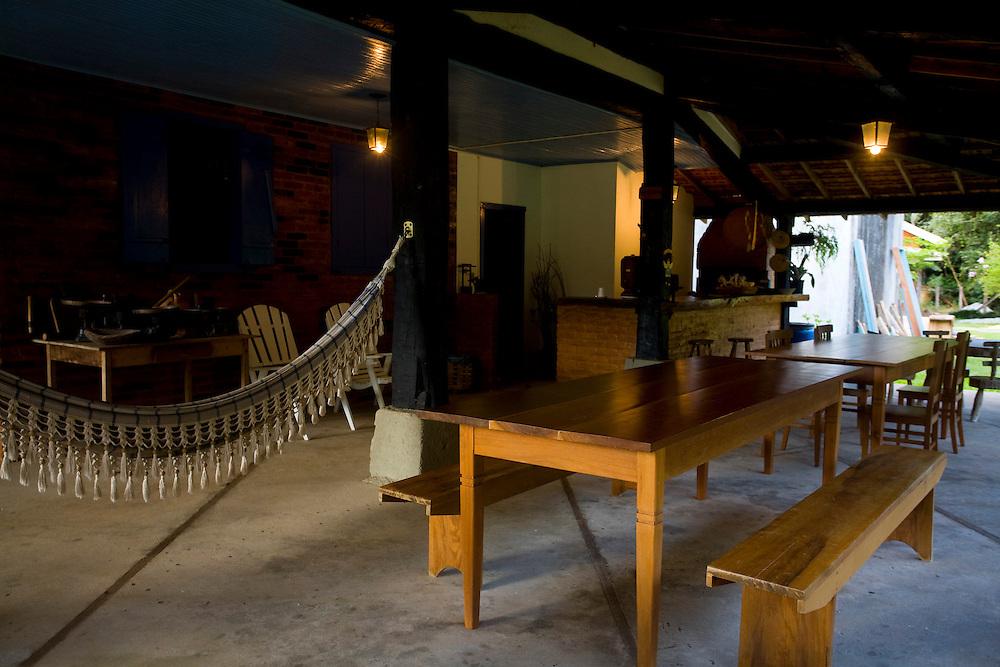 Venda Nova do Imigrante_ES, Brasil...Varanda da Pousada Nono Beppe...The porch of Nono Beppe hotel...Foto: LEO DRUMOND / NITRO