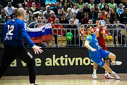 Cehte Nejc of Slovenia during friendly handball match between national teams Slovenia and Montenegro on 4th Januar, 2020, Trbovlje, Slovenia. Photo By Grega Valancic / Sportida